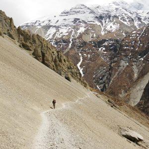 Erdrutschgebiet (bei Tilicho Base Camp 4150Hm)