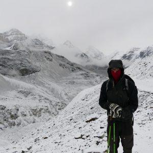 wir sind wegen des schlechten Wetters umgekehrt (Thorong La Pass High Camp 4850Hm)