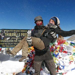 am zweiten Tag hatten wir dann super Wetter, es war eiskalt aber wundervoll (Thorong La Pass 5416Hm)
